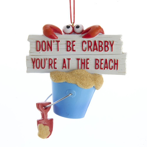 Don't Be Crabby - You're At The Beach Personalized Ornament