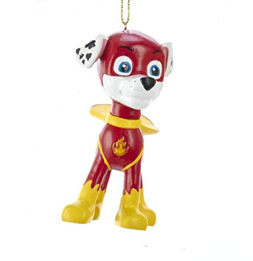 Paw Patrol Superhero Marshall Ornament 3.5 Inch Red Firefighter Ready For Ruff Ruff Rescue