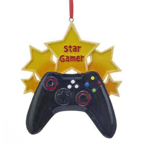 "Star Gamer Personalized Ornament with Xbox Inspired Game Controller 4.5""x 4.5"""