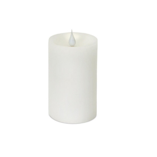 3.5x5 inch Ivory Simplux Flameless LED Candle w/Flickering Moving Flame…