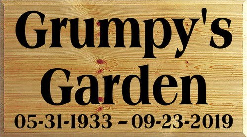 CUSTOM Wood Sign Grumpy's Garden 20x36