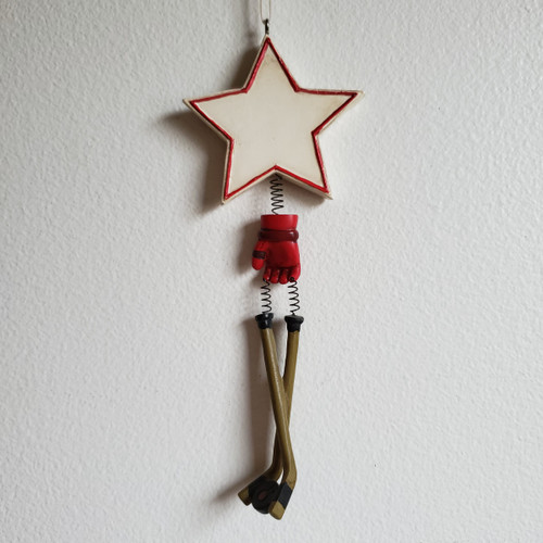 Hockey Star Personalizable Ornament