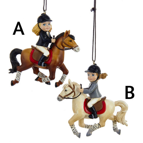 Equestrian Girl Ornament