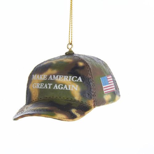 MAGA Camo Hat Ornament