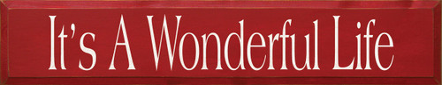 Wood Sign - It's A Wonderful Life 7x36