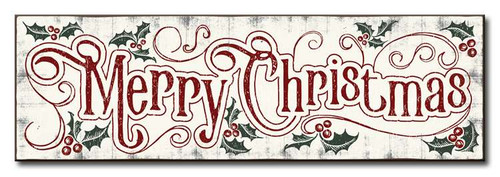 Wood Sign - Merry Christmas - 5x16