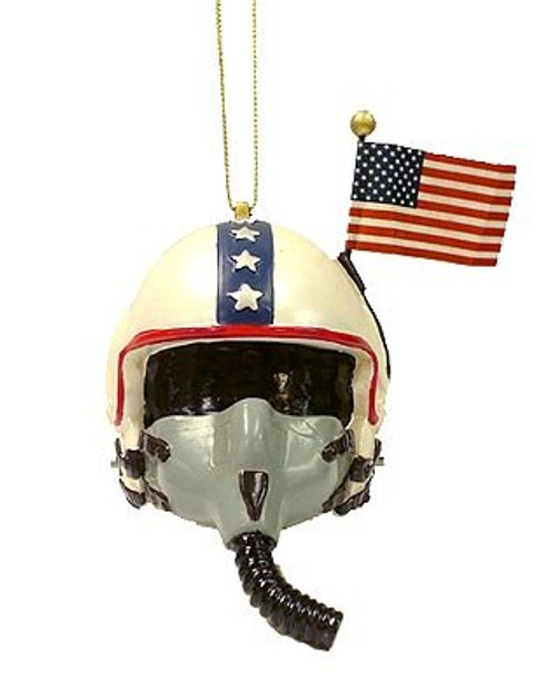 U.S. Air Force Helmet Personalized Ornament White With Flag