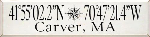 CUSTOM Wood Sign Carver, MA 9x36