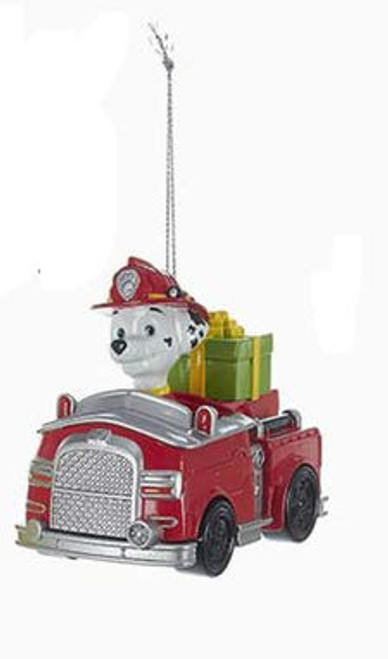 Paw Patrol Marshall The Dalmatian In Fire Truck Ornament