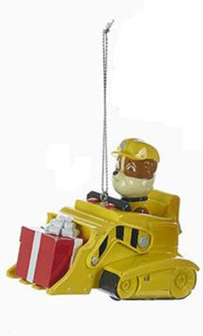 Paw Patrol Rubble the English Bulldog In Bulldozer Ornament
