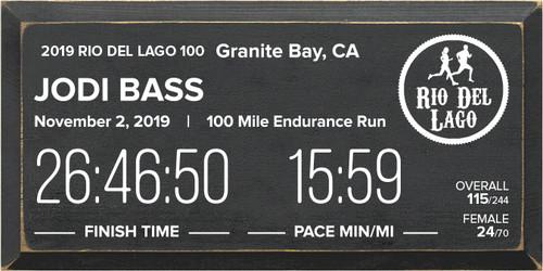 9x18 Charcoal board with White text  Jodi Bass Rio Del Lago