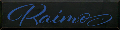 9x36 Black board with Royal text  Raimo