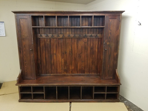 """Reclaimed Wood Mudroom Organizer 90"""" Wide Custom sizes available"""