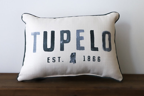 City/Town with Established Year - Personalized Pillow 12 x 20