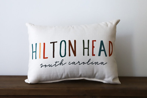 Colorful City and State - Personalized Pillow 12 x 20