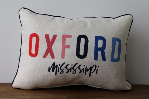 Colorful City, State - Personalized Pillow 12 x 20
