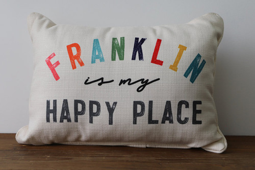 City Is My Happy Place - Personalized Pillow 12 x 20