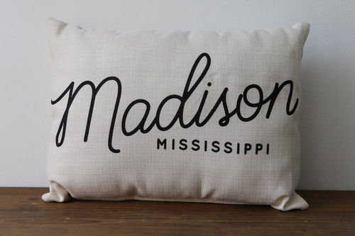 City, State - Personalized Pillow 12 x 20