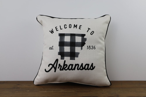 Welcome To Your State with Established Year - Personalized Square Pillow 16 x 16