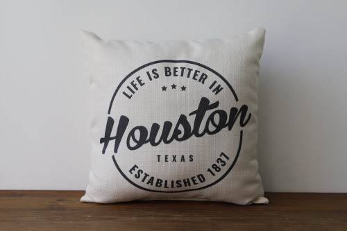 Life Is Better In City, State with Established Year - Personalized Square Pillow 16 x 16