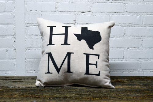 Home with State - Personalized Square Pillow 16 x 16
