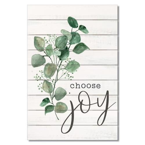 "Wood Slatted Sign - Choose Joy - 12"" x 18"""
