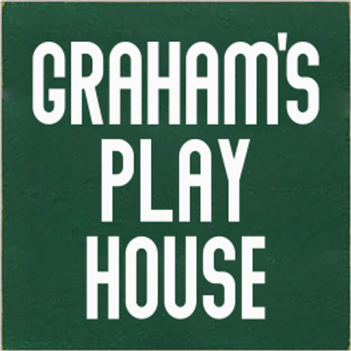 7x7 Dark Green board with White text  Graham's Play House