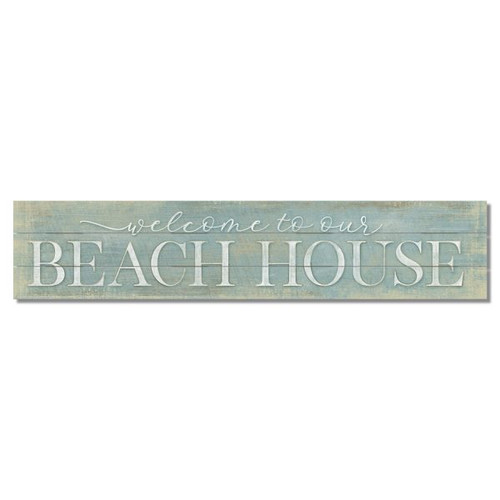 Welcome To Our Beach House - Slat Style Wooden Sign 36x7.5
