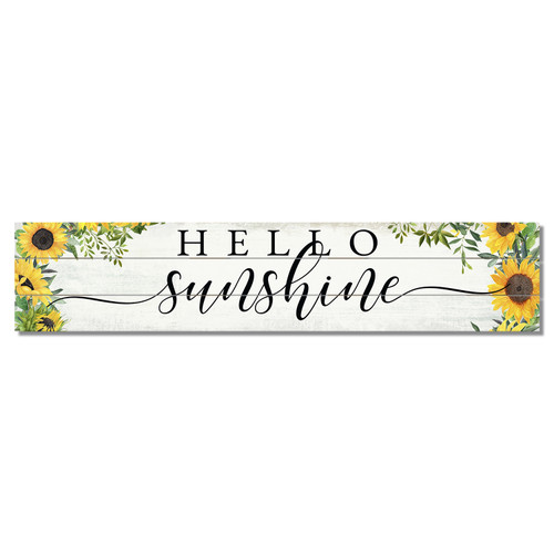 Hello Sunshine with sunflowers Pine Pallet Wooden Sign