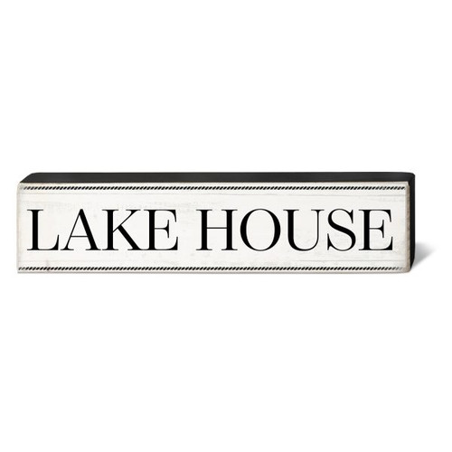 Lake House - Wooden Block Sign