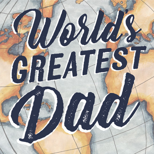 World's Greatest Dad Wooden Sign 6x6