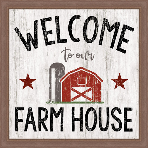 Welcome To Our Farmhouse Pine Wood Framed Sign - 12X12