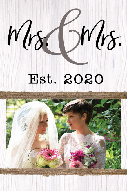 Mrs & Mrs Est. 2020 - 7x10 Photo Holder