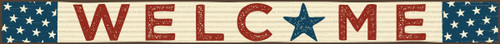 Welcome Patriotic Wood Sign - 16in.