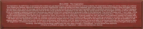 CUSTOM Wood Sign Bulldog 10x48