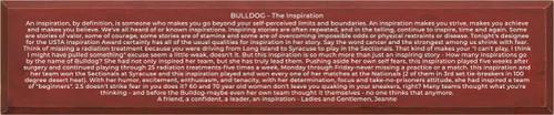 CUSTOM Wood Sign Bulldog 10x48