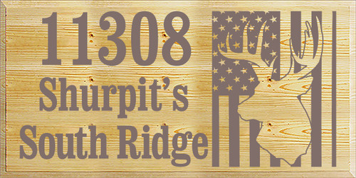18x36 Poly board with Anchor Gray text  11308 Shurpit's South Ridge