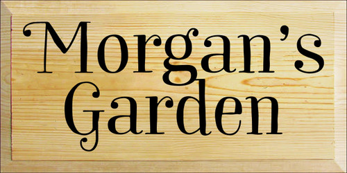 9x18 Poly board with Black text  Morgan's Garden