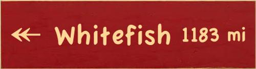 CUSTOM Wood Sign Whitefish 3.25x12