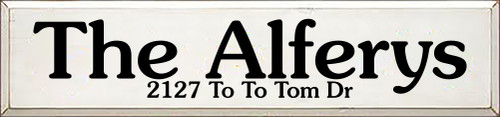 CUSTOM Wood Sign The Alferys 7x30