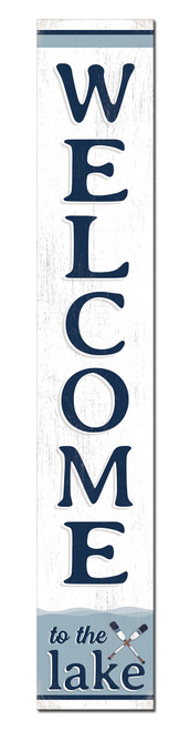 Outdoor Sign for Porch - Welcome To The Lake - Vertical Porch Board 8x47