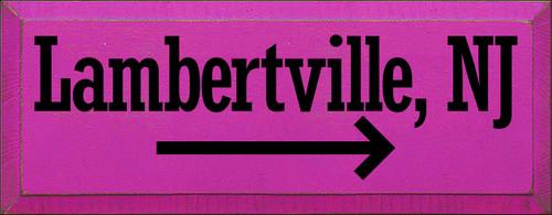 7x18 Blush board with Black text  Lambertville, NJ