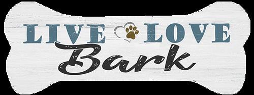 Live Love Bark - Dog Bone Shaped Magnet