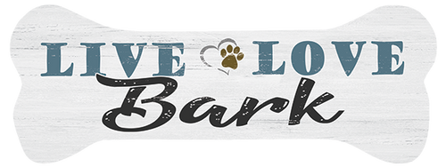 Live Love Bark - Dog Bone Shaped Magnet