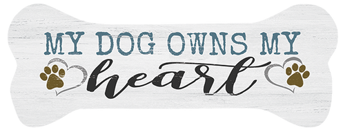 My Dog Owns My Heart - Dog Bone Shaped Magnet