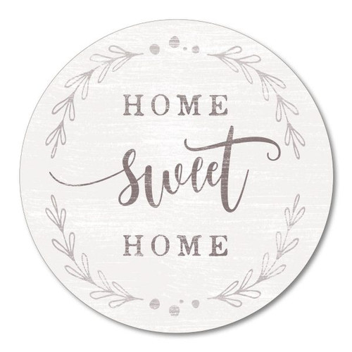 Home Sweet Home - 15.5in. Round Wood Sign