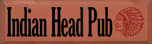 7x24 Paprika board with Black and Red text  Indian Head Pub