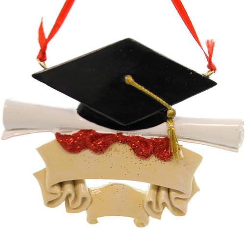 Resin Graduate Ornament 4.25in.