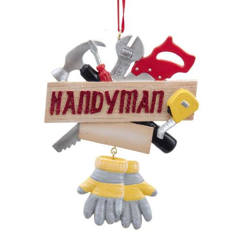 Resin Handyman Ornament 4.25in.