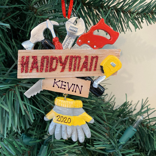 Resin Handyman Ornament 4.25in.